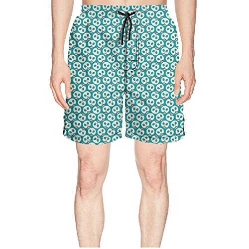 Men's Quick Dry Beach Shorts Day Of Dead Colourfor Skulls Outdoor Sport (Halloween Day Of The Dead Differences)