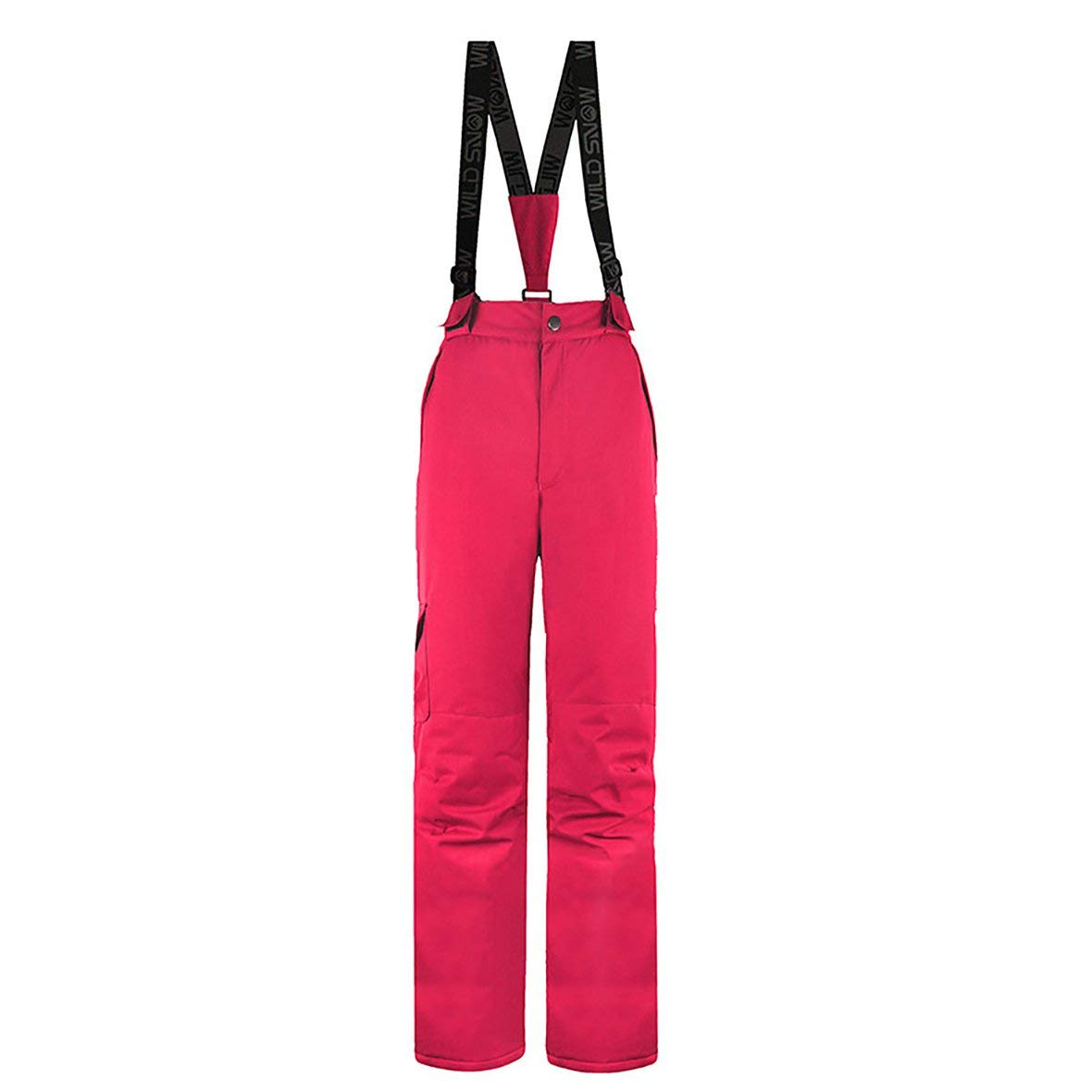 Fluorescent red Large Ladies Ski Climbing Pants Waterproof Windproof Warm Insulated