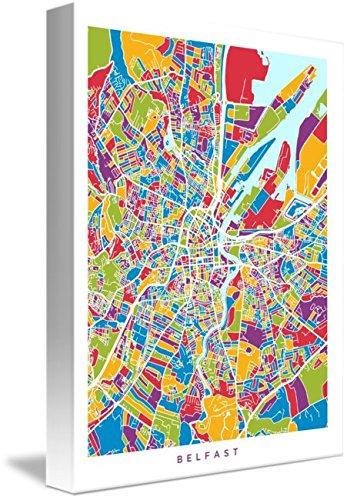 Map Of Ireland 32.Amazon Com Wall Art Print Entitled Belfast Northern Ireland City