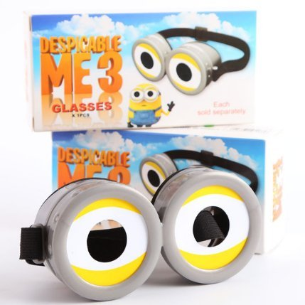[Minions 3D Glasses Child Adult General Cinema Polarization 3D Cosplay] (Cheap Disciple Costumes)