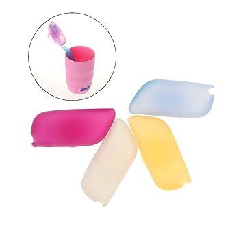 OUNONA 4pcs Cepillo de dientes cubre el casquillo protector del caso del cepillo de dientes del ...