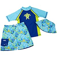 UV SKINZ UPF 50+ Boys 3-Piece Swim Set
