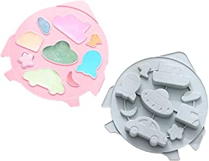 2 Pack of 9-grids UFO Silicone Baking Mould Chocolate Mold Dessert Mold Nonstick Jelly Pudding Cake Mold Ice Cube for Home Kitchen DIY Bakeware Kitchen Tools