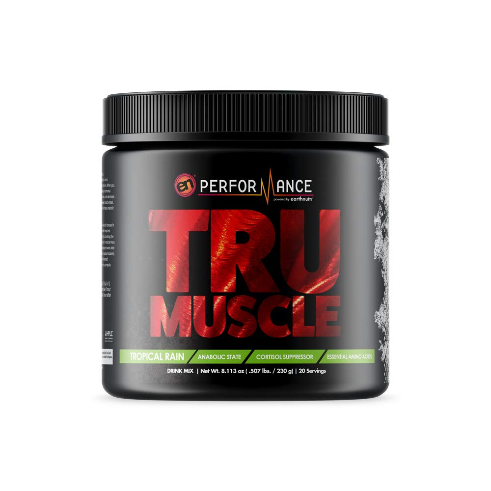 EarthNutri TruMuscle with SerinAid, Mediator, and Amino9, (230g / Tub, 20 Servings)