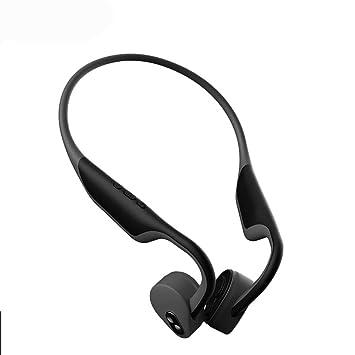 Auriculares inalámbricos de conducción ósea al aire libre Bluetooth 5,0 auriculares montados en la cabeza de micrófono impermeable deportes adecuados para ...
