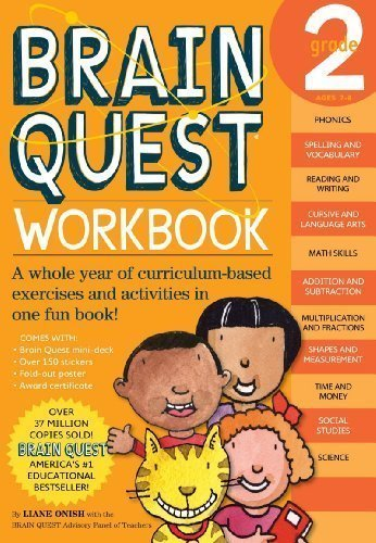 Brain Quest Workbook: Pre-K: A whole year of curriculum-based exercises and activities in one fun book! by Liane Onish (July 9 2008) (Brain Quest Pre K Workbook compare prices)