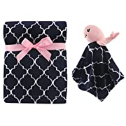 Hudson Baby Plush and Security Blanket Set, Girl Whale, One Size