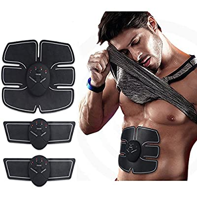 Rectus Abdominis Muscle Fitness Technology Kit | 6 Pack Abs Trainer Abdominal Muscle Sculpting Wireless Electro Pad Portable Gym Trainer for Body Builders