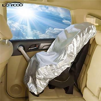 Lorcoo Niños Baby Kids Asiento de coche Sun Shade Protector solar, Sombrilla para Baby Buggy Strollers Cochecito, Plata: Amazon.es: Bebé