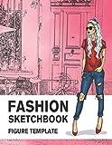 Fashion Sketchbook Figure Template: 430 Large