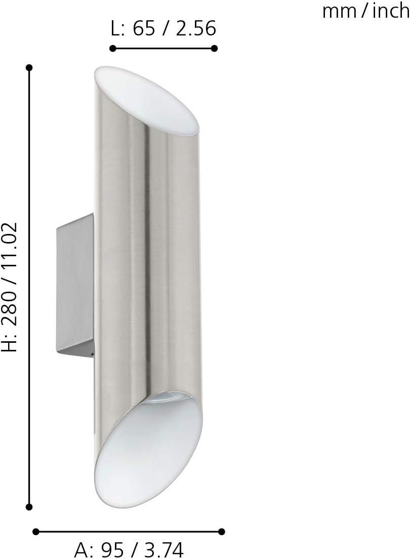 EGLO VIEGAS Wandleuchte, Stahl, 6.6 W, nickel matt, weiss