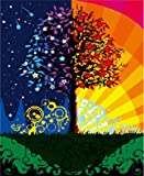 Diy oil painting, paint by number kit - Abstract tree 16*20 inch.