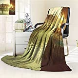 AmaPark Digital Printing Blanket Pura Ulun Danu Temple Bali Indonesia Asian River R Summer Quilt Comforter