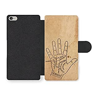 Palmistry Gypsy Hipster Retro Stylish Design on Rustic Style Faux Leather case for iPhone 6 6S