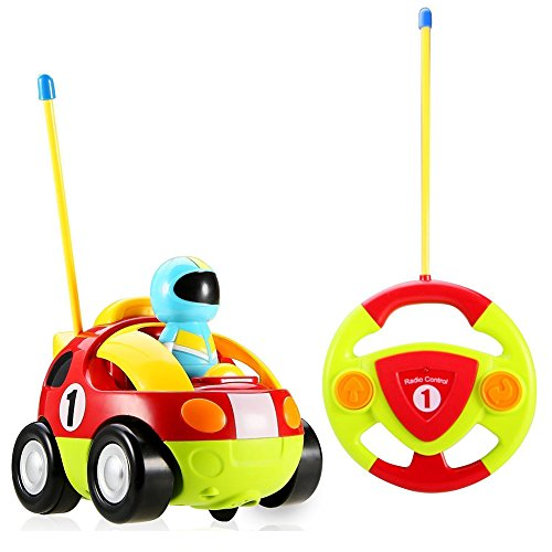 Toddler Stone - Holy Stone RC Cartoon Race Car with Music and Lights Electric Radio Control Toy for Baby Toddlers Kids and Children