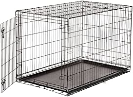 AmazonBasics Single-Door Folding Metal Dog Crate - 48 Inches