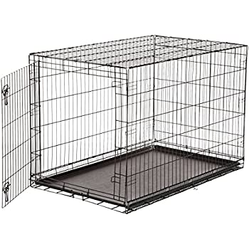 AmazonBasics Single-Door Folding Metal Dog Crate - 48 Inches
