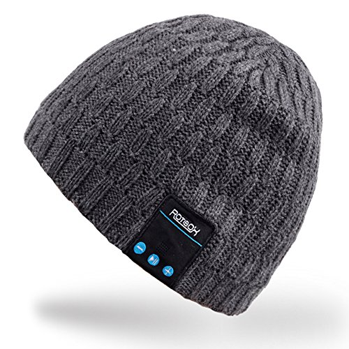 Mydeal Bluetooth Beanie Hat Winter Warm Soft Knit Cap wit...