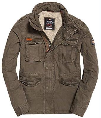 bb9c980b91193 Superdry Men's Classic Rookie Military Jacket, Khaki, XL at Amazon Men's  Clothing store: