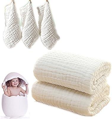 Juego de toallas de baño y paños de baño para bebé, manta de bebé ...