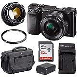 Sony Alpha a6000 24.3MP Mirrorless Digital Camera (Body/Black) 7artisans w/35mm f/1.2 Lens Bundle (2 lens Bundle)