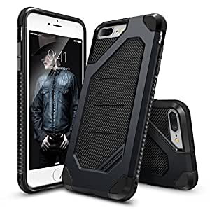 iPhone 7 Plus Case, Ringke [Max Series] Streamlined Reinforced Heavy Duty Defense [Shock Absorption] Ergonomic Reassuring Grip Stylish Armor Protective Cover for Apple iPhone 7 Plus 2016 - Slate Metal