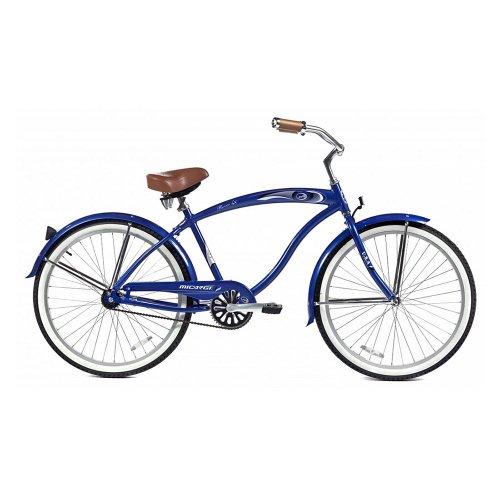 Micargi Rover LX Beach Cruiser Bike, Blue, 26-Inch