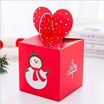 QUQUET 6 unids / Lote Decoraciones de Bolsas de Dulces de Dibujos Animados de Navidad Cajas de Regalo de Papel para Invitados Baby Shower Supplies @ Snowman_6pcs: Amazon.es: Juguetes y juegos