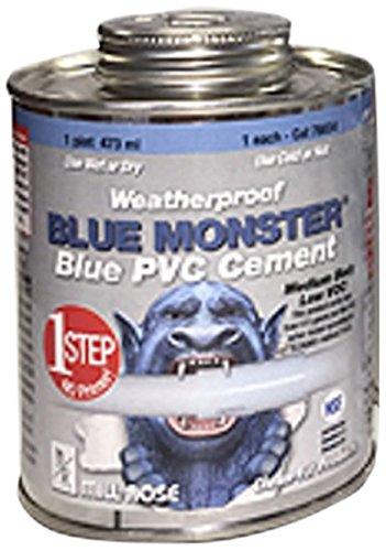 Millrose 76034 Pvc Cement 1 Pint (16 FL OZ) Blue Monster