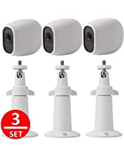 EEEKit Adjustable Outdoor Indoor Mental Wall/Ceiling Mount+ Protective Silicone Skins Cover Case for Arlo Pro/Arlo Pro 2 Home Camera (3-Set White)