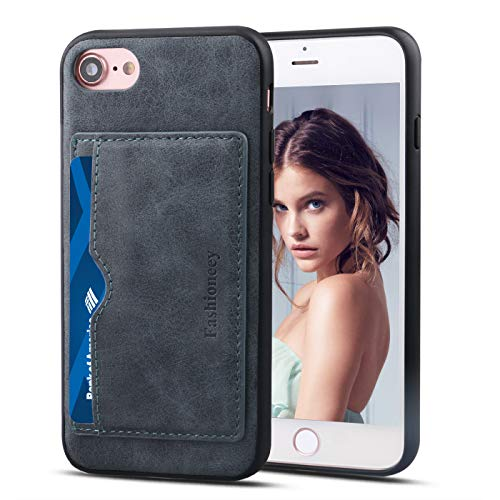 Fashioneey iPhone 8 Wallet Case with Card Holder, iPhone 7 Leather Card Case, Premium PU Leather Card Slots Durable Shockproof Cover with Magnetic Kickstand for iPhone 7/ iPhone 8 4.7 Versions