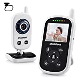 Image of Video Baby Monitor, UU Infant Night Vision Camera Temperature Monitor with Alarm, Night Light, 2 Way Talkback Audio[Baby Car Mirror Included]