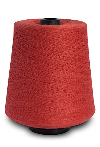 (Linen Yarn Cone - 100% Flax Linen - 1 LBS - Flame Red - 3 PLY - Sewing Weaving Crochet Embroidering - Euroflax Linen Yarn - 3.000 Yards)