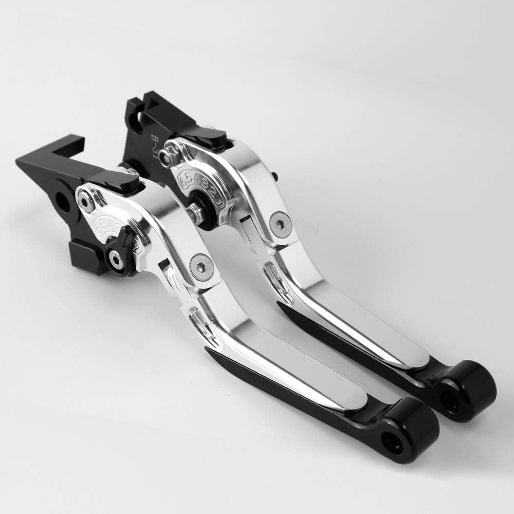 Motorrad Falten ausziehbare Bremse Kupplungshebel Bremskupplungshebel CNC Aluminum passend f/ür GSX-S 125 GSXS 150 2017 2018