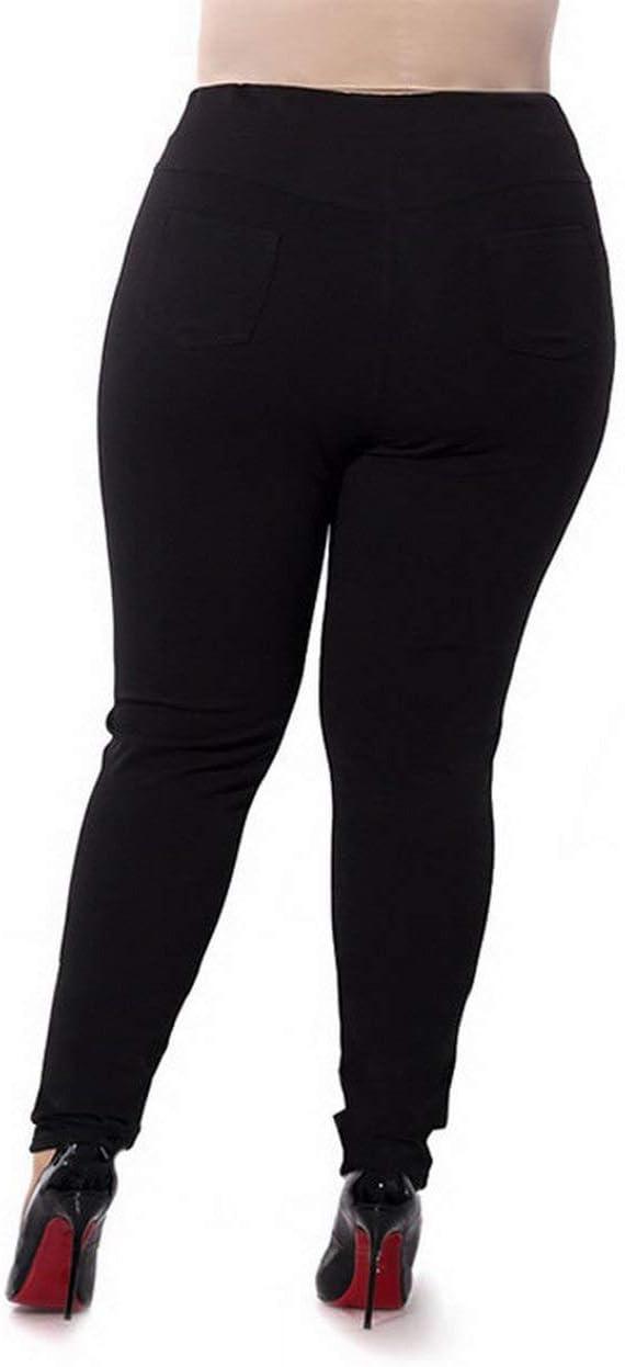 Plus Size Autumn Pants Women Leggings Solid Color Big Yards Stretch Pants Feet High Waist Pants