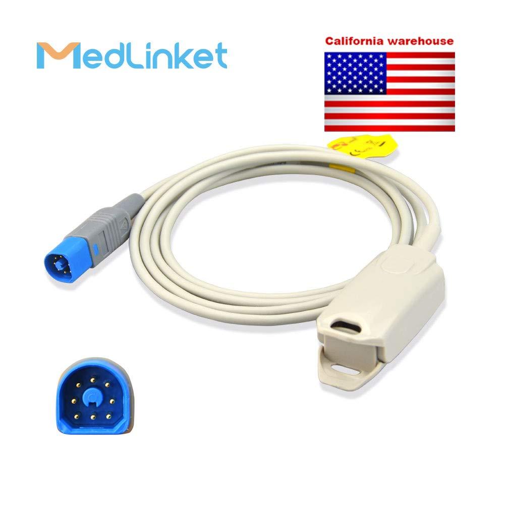 Pacific Medical NFPH200 Compatible Reusable SpO2 Adult Finger Clip Sensor, 1M by MED-LINKET
