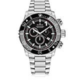 Edox Men's 'Chronoffshore-1' Swiss Quartz Stainless Steel Diving Watch, Color:Silver-Toned (Model: 10221 3M NIN)