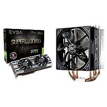EVGA GeForce GTX 1070 SC GAMING ACX 3.0, 8GB GDDR5, LED, DX12 OSD Support (PXOC) Graphics Card (08G-P4-6173-KR) & Cooler Master Hyper 212 EVO CPU Cooler with 120mm PWM Fan (RR-212E-20PK-R2) Bundle