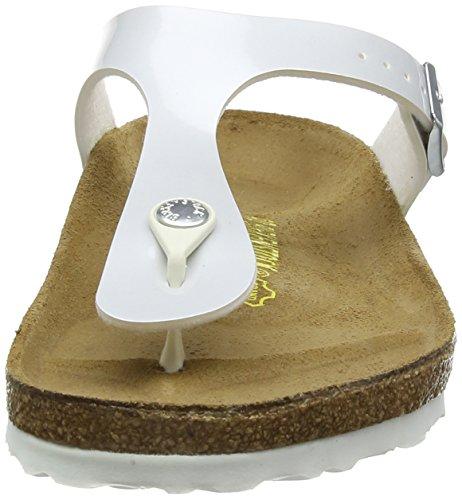 Birkenstock Gizeh - Sandalias de cuero sintético para mujer Blanco - White (Pearly White)
