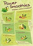 Cuisine Poster Adhesive Photo Wallpaper - Power Smoothies, Schlanker, Wacher, Fröhlicher, 2 Parts (98 x 71 inches)