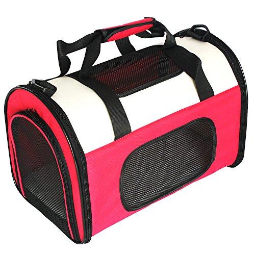 Petsfit Lightweight Fabric Pet Carrier with Fleece Mat and Food Pocket Cat Carrier/Cat Carry Case – Small (41 x 25 x…