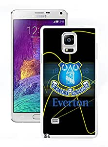 Fashion Antiskid Custom Designed Cover Case With Everton For Samsung Galaxy Note 4 N910A N910T N910P N910V N910R4 White Phone Case 145