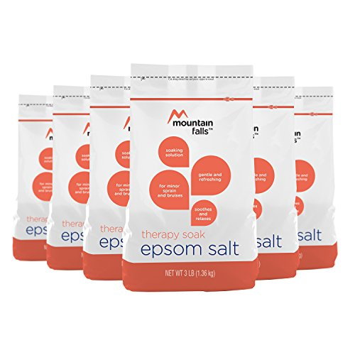 Mountain Falls Epsom Salt, Therapy Soak, 3 Pound (Pack of 6)