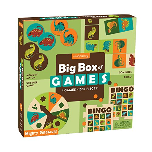 Mighty Dinosaurs Big Box Of Game Puzzles Bingo Dominoes