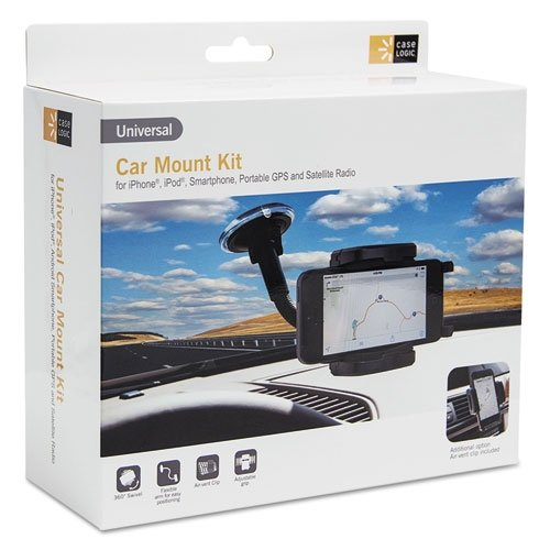 Case Logic Universal Car Mount for Smartphones, GPS, or Radio with Air Vent Adapter (Kit Car Logic Mount Case)