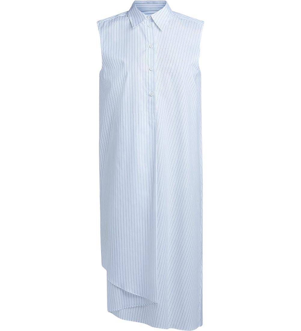 White MAISON MARGIELA Mm6 Woman's Mm6 White and Black Pinstriped Dress
