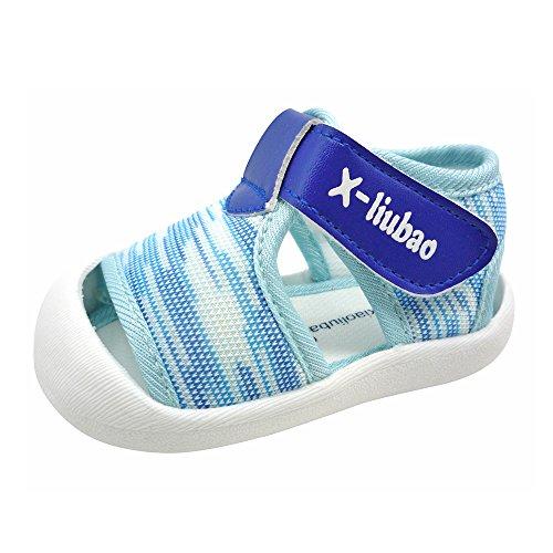 QGAKAGO Toddler Baby Boys or Girls Breathable Mesh Running Sneakers Summer Sandals (3.5 M US Toddler, Light Blue)