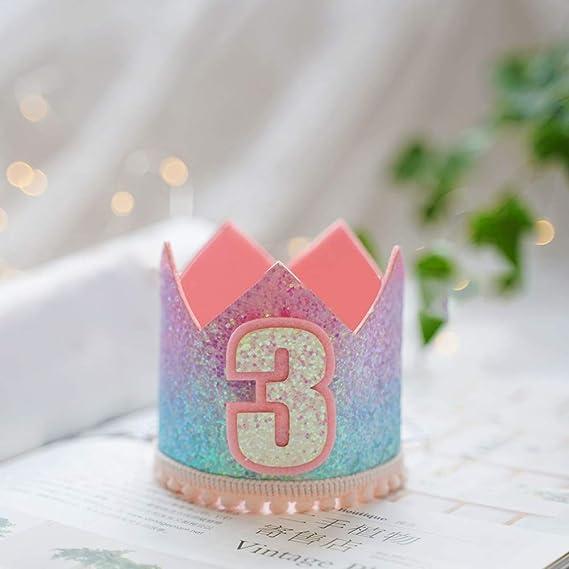 AKDSteel Gorras de Corona de Sirena de cumpleaños para bebés ...