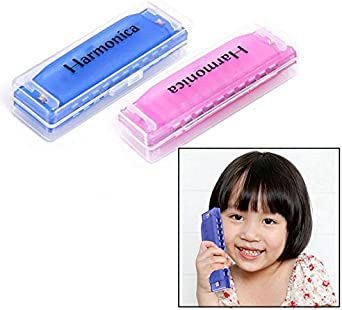 Harmonica Kids Beginner Practice Plastic Mouth Organ 10 Holes Tricolor 3 Pieces