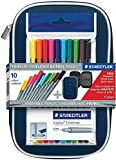 Staedtler Triplus Fineliner Pen Assorted Colors with Case: 10-color Set (Limited Edition)